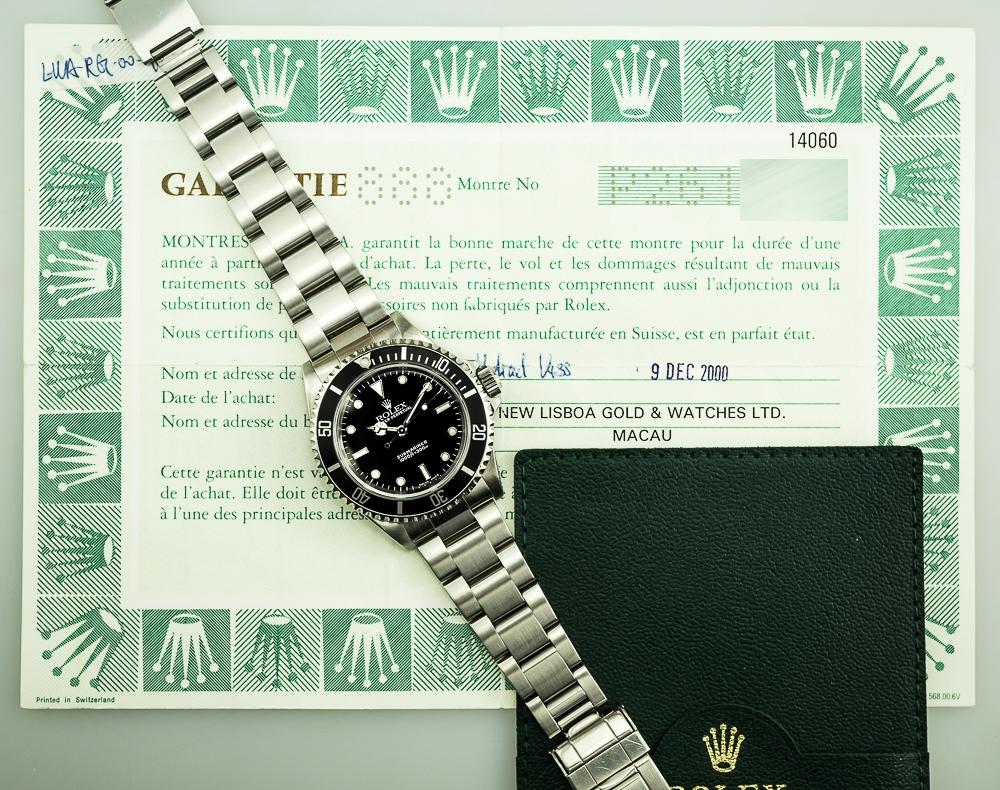 14060 Submariner No Date P Serie Full Set The Watchguy